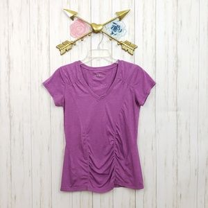 Zella Ruched Workout Shortsleeve Top Size L